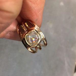Handmade 14k &  18k gold Moissanite cushion ring